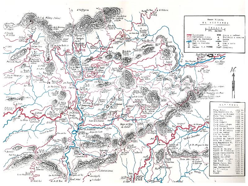 mapa hidrografic